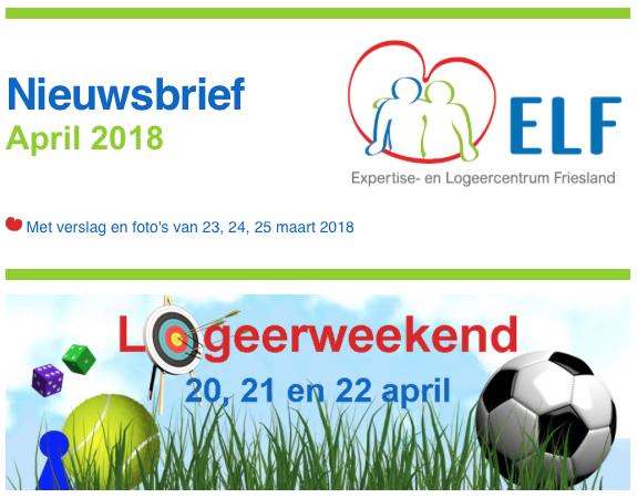 ELF nieuws april 2018
