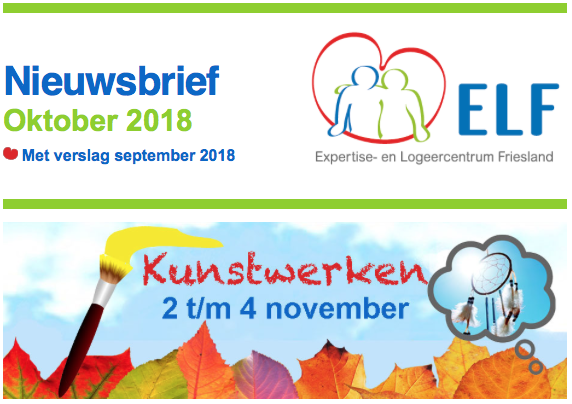 Nieuwsbrief oktober 2018 van stichting ELF