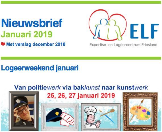 Nieuwsbrief januari 2019 met programma januari, opening expositie en belevenissen kerstweekend