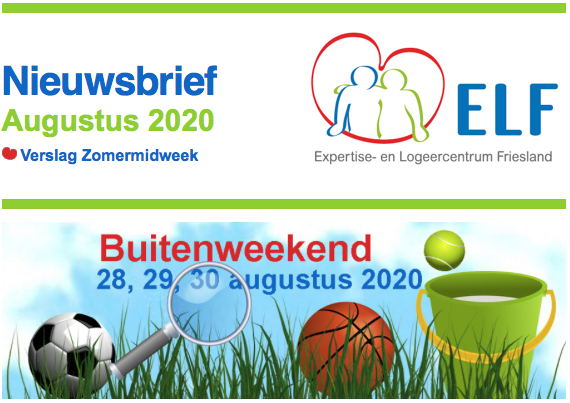 Nieuwsbrief ELF augustus 2020 met verslag van de Zomermidweek
